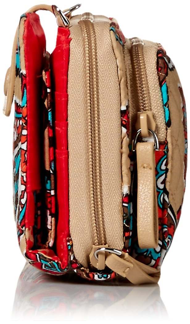 Vera Bradley Iconic Deluxe All Together Crossbody, Signature Cotton, Desert Floral by Vera Bradley (Image #3)