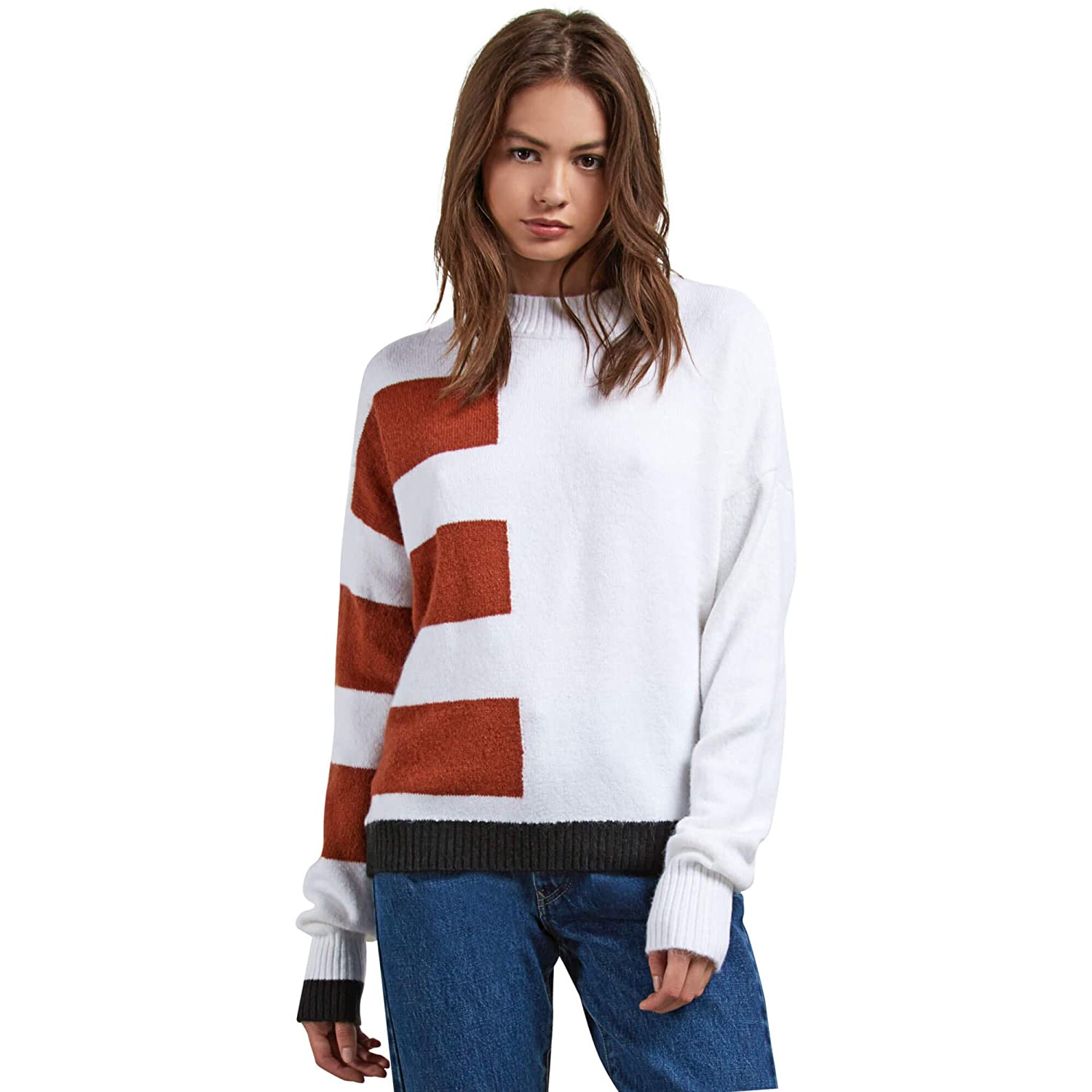 TALLA L. Volcom Jersei Cold Band Sweater White