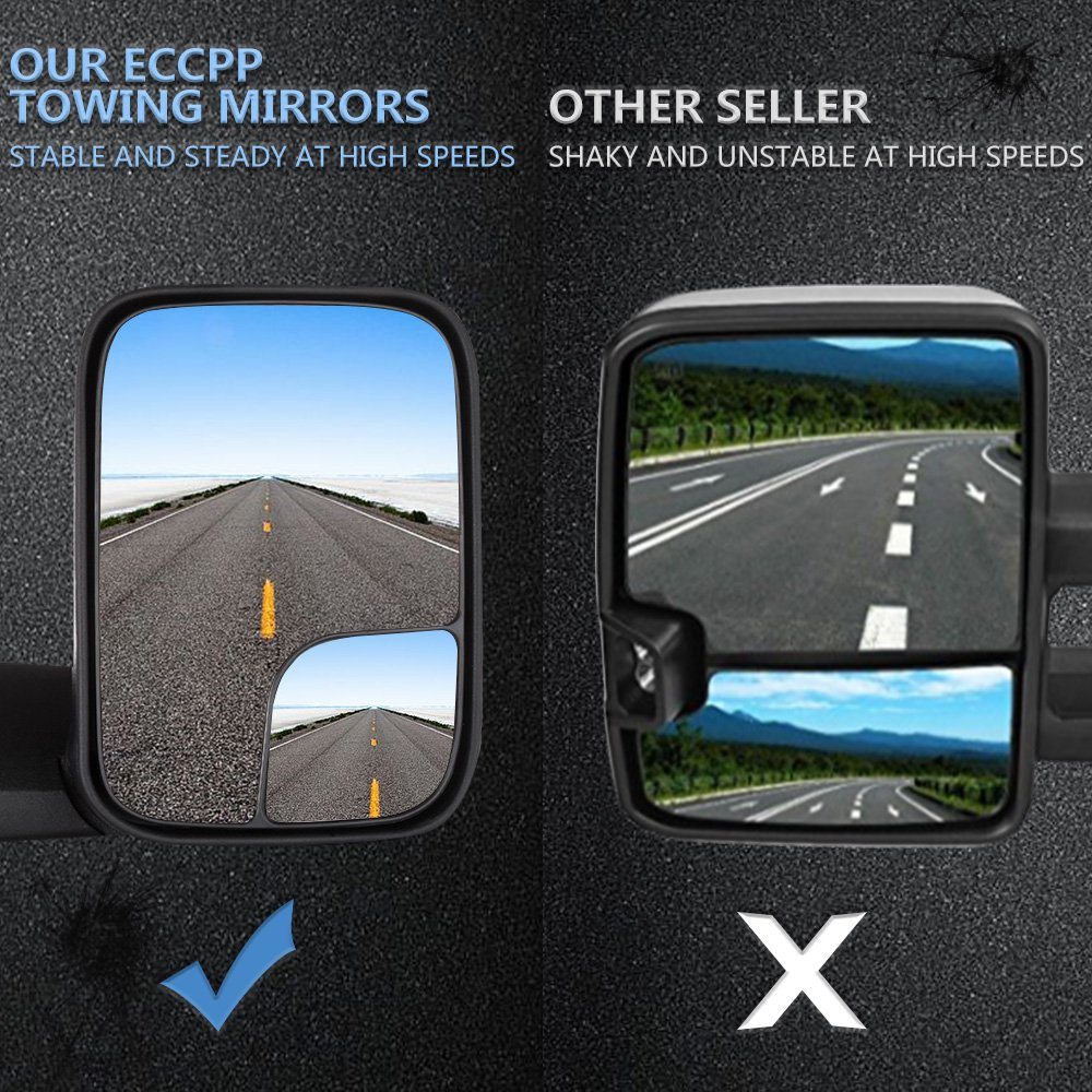 ECCPP Towing Mirrors Dodge Ram Tow Mirrors Pair Power Operation Manual Folding For 1994-1997 Dodge Ram 1500 2500 3500 Truck 1994 1995 1996 1997 by ECCPP (Image #4)