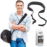 EZ-GO Porta Cascos para Moto - Correa de Transporte Ajustable Manos Libres para Casco - Alternativa Ligera y Cómoda a la Bolsa para Casco - Accesorio de Moto Ideal como Regalo para Hombre o Mujer