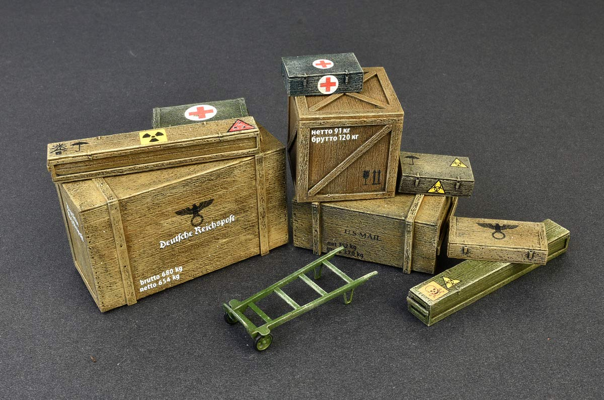 MiniArt 35581 Wooden Boxes & CRATES 20TH Century Plastic Models KIT 1/35 Scale by MiniArt (Image #1)