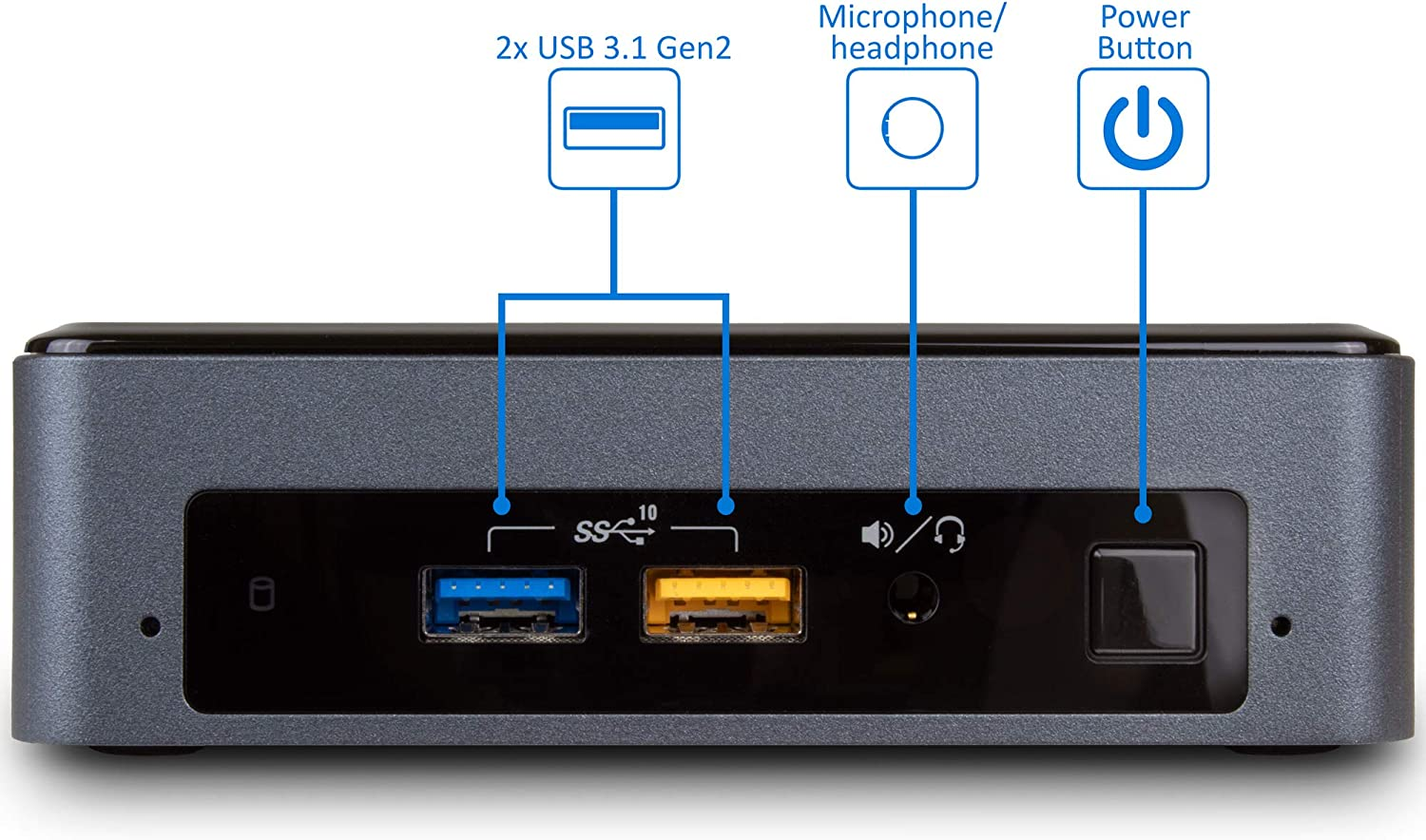 Card Reader Windows 10 Pro HDMI Wi-Fi 512GB SSD Intel NUC 8i7BEK Mini Desktop Intel Quad-Core i7-8559U Upto 4.5GHz Thunderbolt 3 Bluetooth 16GB RAM