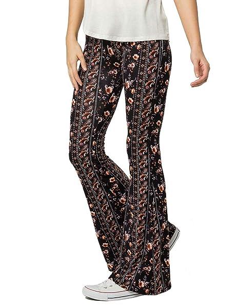 Amazon.com  SKY AND SPARROW Floral Paisley Flare Pants b768ff6e5