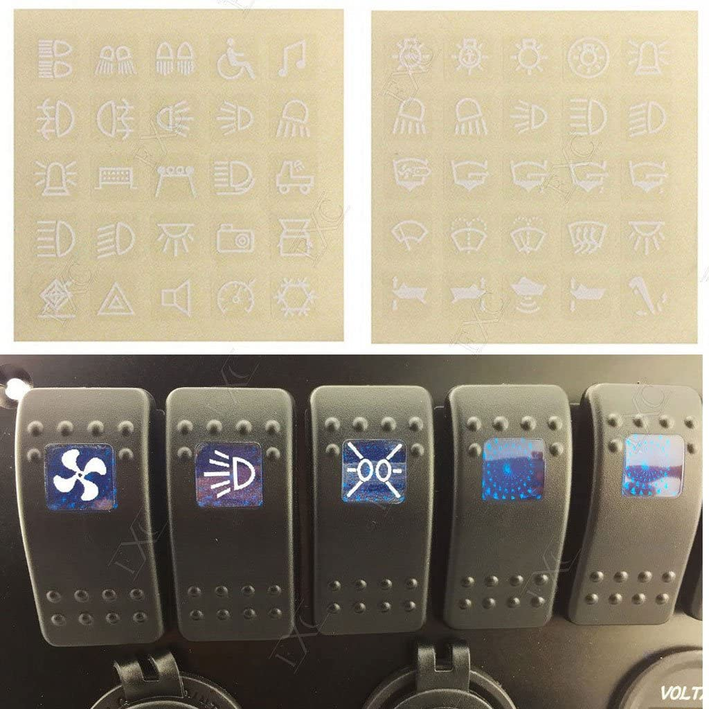 H HILABEE 6Gang Wippschalter Control Panel Blaue LED Lichtstromkreis