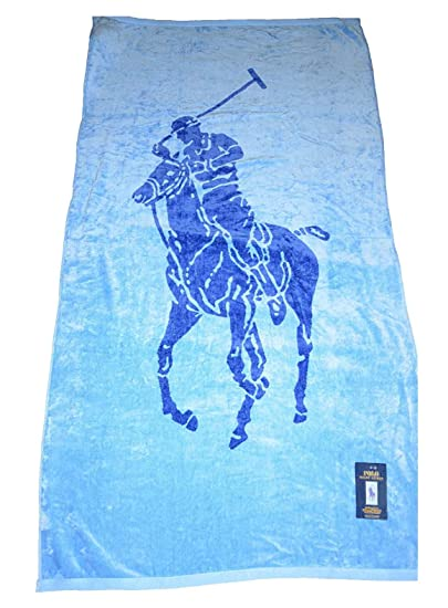 Polo Ralph Lauren 35 X 66 Big Pony Beach Towel Blue Cobalt