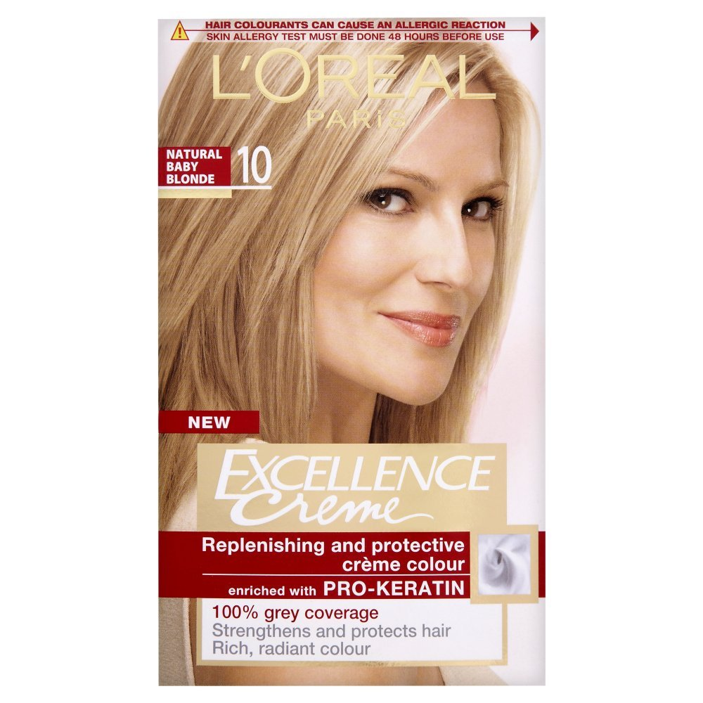 Loreal Excellence Permanent Hair Colour 10 Natural Baby Blonde
