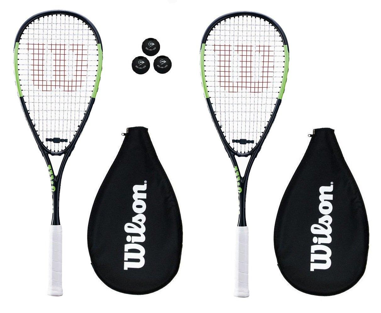 Wilson Blade Team Squash Racket with 3 Squash Balls (Various Options)