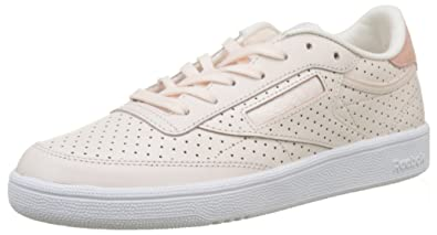 check out 7c7cb 00d62 Reebok Club C 85 Popped Perf, Sneakers Basses Femme, Rose (Pale Chalk Pink
