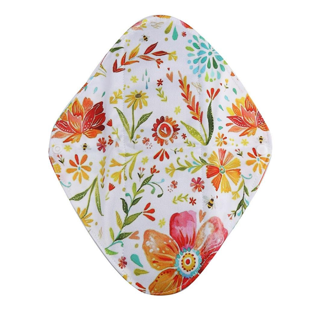 Women Sanitary Towel Pad TOOPOOT Reusable Bamboo Cloth Washable Menstrual Pad (L, Multicolor) by TOOPOOT (Image #2)