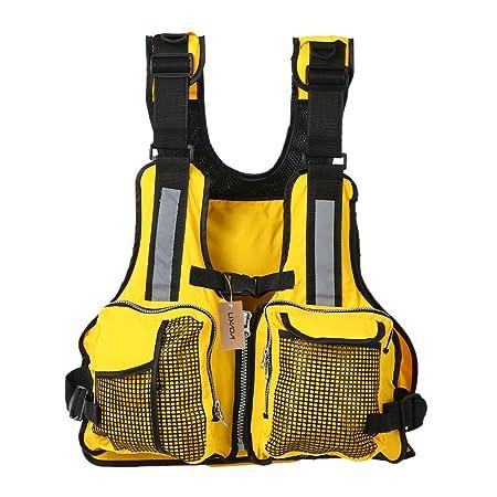 Lixada Fly Fishing Vest,Fishing Life Jacket Vest Adjustable Breathable Sailing Kayaking Boating Buoyancy Life Jacket Waistcoat