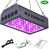 MAXSISUN 600W LED Grow Light, Full Spectrum LED Grow Lights for Indoor Plants Veg and Bloom, Plant Growing Lamps to Cover a 2