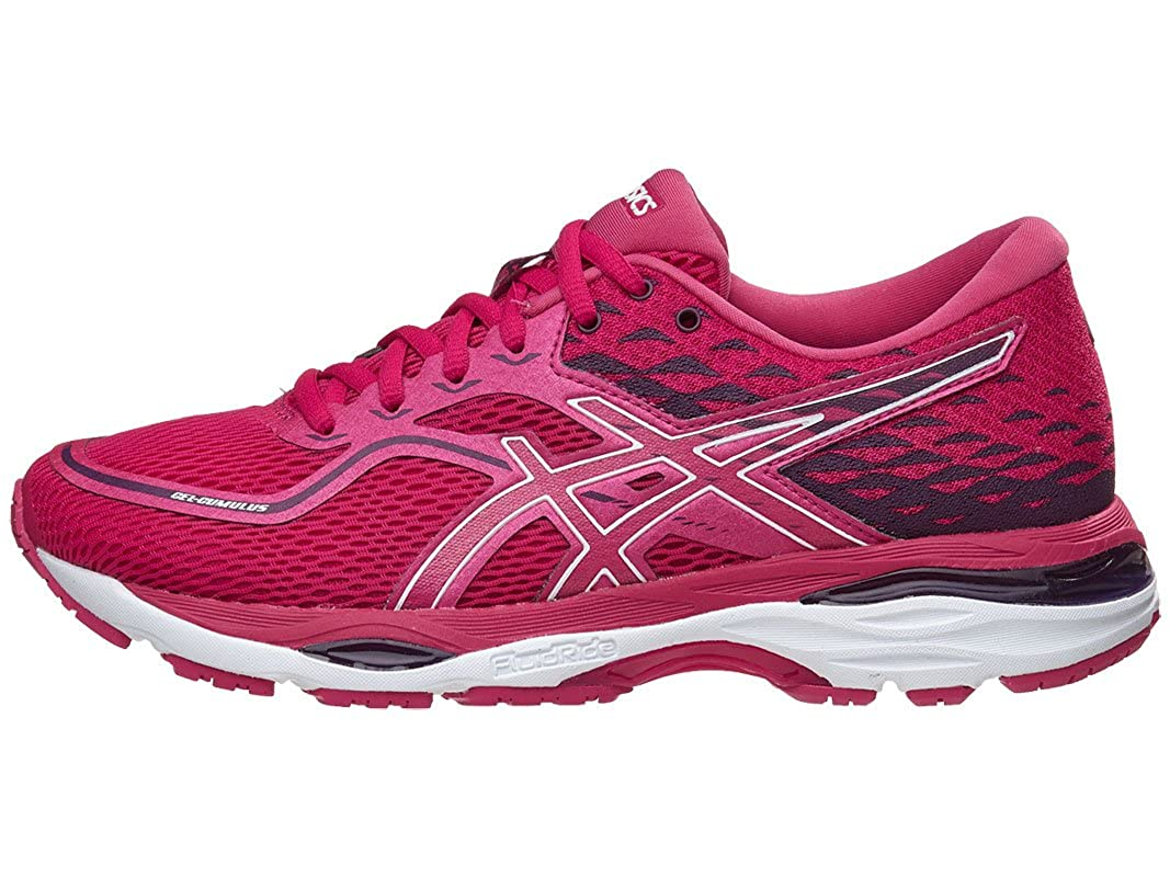 Cosmo Pink White Winter Bloom ASICS Women's Gel-Cumulus 19 Running-shoes