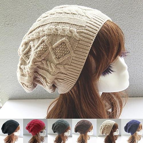 Masterein Sombrero de invierno de las mujeres Sombrero de giro peque?o gorro Sombrero de lana de oci...