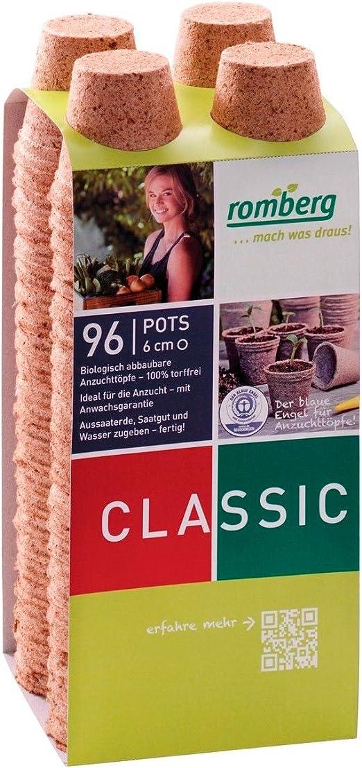 96x Macetas redondas de fibra de coco biodegradable Romberg ...