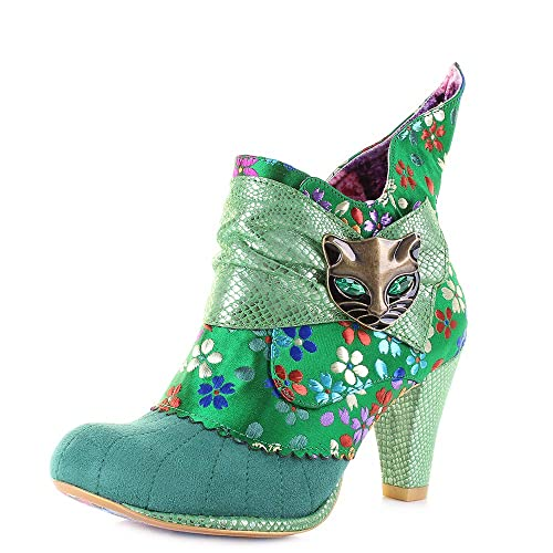 new high great prices timeless design Irregular Choice - Miaow - Green Floral - Boots (40 EU / 6.5 UK)