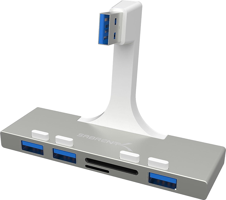Sabrent 3-Port USB 3.0 Hub with Multi-in-1 Card Reader for iMac Slim Unibody 2012 or Later (HB-IMCR)