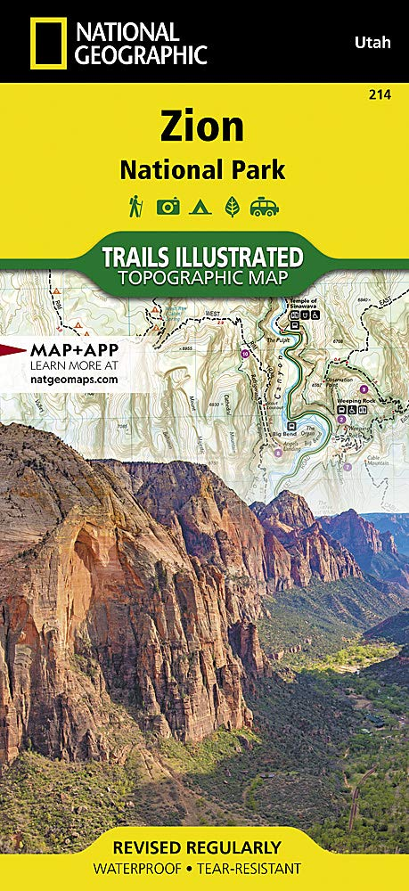 Zion National Park (National Geographic Trails Illustrated ... on washington hiking map, death valley hiking map, las vegas hiking map, snowbird hiking map, bighorn national forest hiking map, los angeles hiking map, ashley national forest hiking map, lake powell hiking map, dead horse point hiking map, palo duro canyon hiking map, coyote buttes hiking map, redwood national park hiking map, lake mead hiking map, garden of the gods hiking map, escalante river hiking map, mt. zion utah map, moab hiking map, wills creek hiking map, vedauwoo hiking map, city of rocks national reserve hiking map,