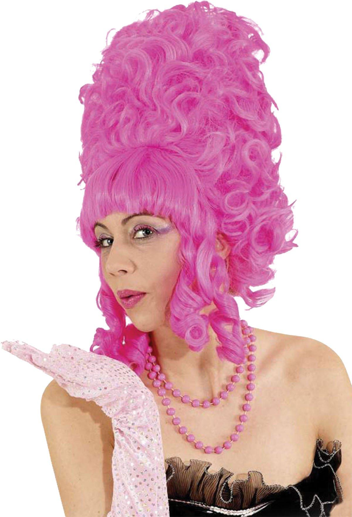 Bristol Novelty BW704 Lady Pompadour Wig, Pink, One Size