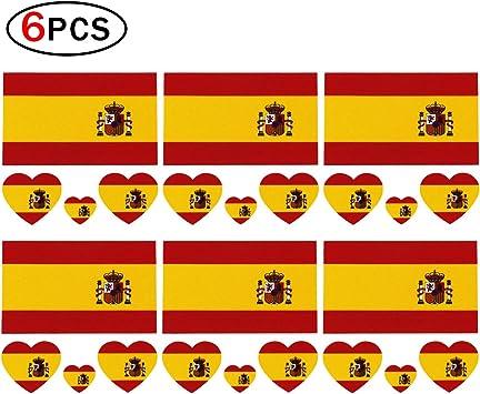 Runfon 6 x Fútbol Tattoo España Bandera Fans Bandera Adhesivos ...