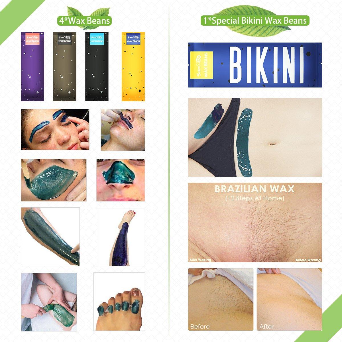Amazon Com Sansido 17 63oz Brazilian Bikini Wax Hard Wax Beans Hair
