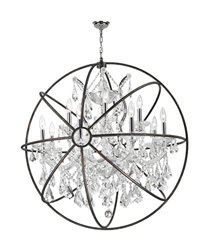 Worldwide lighting armillary collection 13 light chrome finish and worldwide lighting armillary collection 13 light chrome finish and clear crystal with flemish brass cage finish aloadofball Image collections