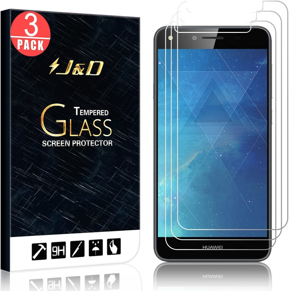 J&D Compatible para 3 Paquetes Huawei Y6 II Compact Protector de ...