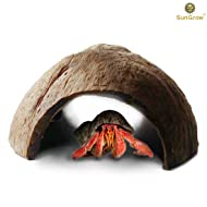 Eco-friendly Hermit Crab hut - Pet-safe arthropod's hideout - Natural, spacious Coco tunnel - Maximum Privacy, Ideal breeding ground - Encourages physical activity - Use as hermie cave or climber