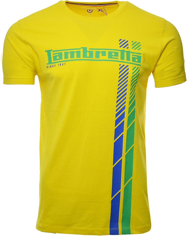 Lambretta - Camiseta de fútbol para hombre (talla S a 4XL) Amarillo amarillo XXL: Amazon.es: Ropa y accesorios