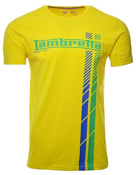Lambretta - Camiseta - Manga Corta - para Hombre Amarillo Amarillo ...