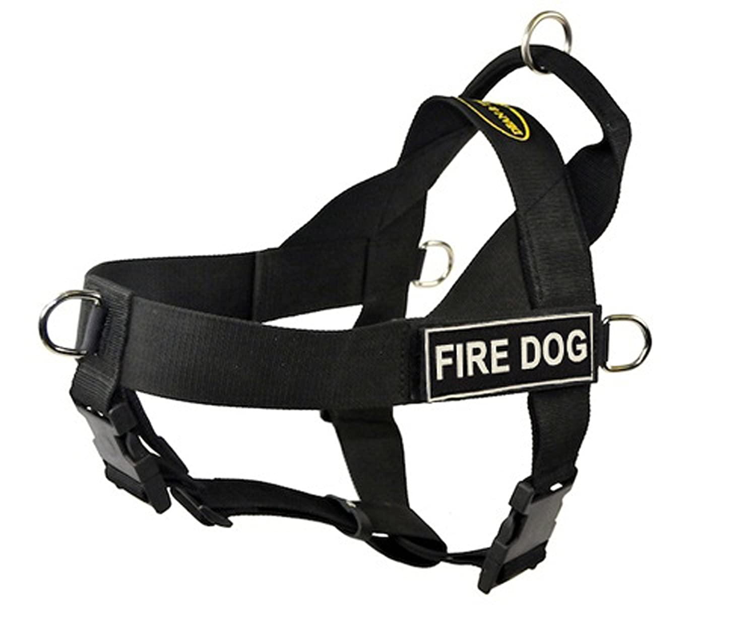 DT Universal No Pull Dog Harness, Fire Dog, Black, Small, Fits Girth Size  24-Inch to 27-Inch