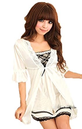 76552302004 Hot Women Twinset Lace Pajama Strap Sleep Night Dress Nightwear Sleepwear  Set  Amazon.co.uk  Clothing