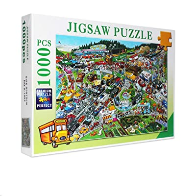 1000 Pieces Jigsaw Puzzles-Car Home,Character Pattern Jigsaw Puzzles for Adults and Childs,Family Educational Toy Sets,Difficult Puzzles for Players, Puzzle Toys: Toys & Games