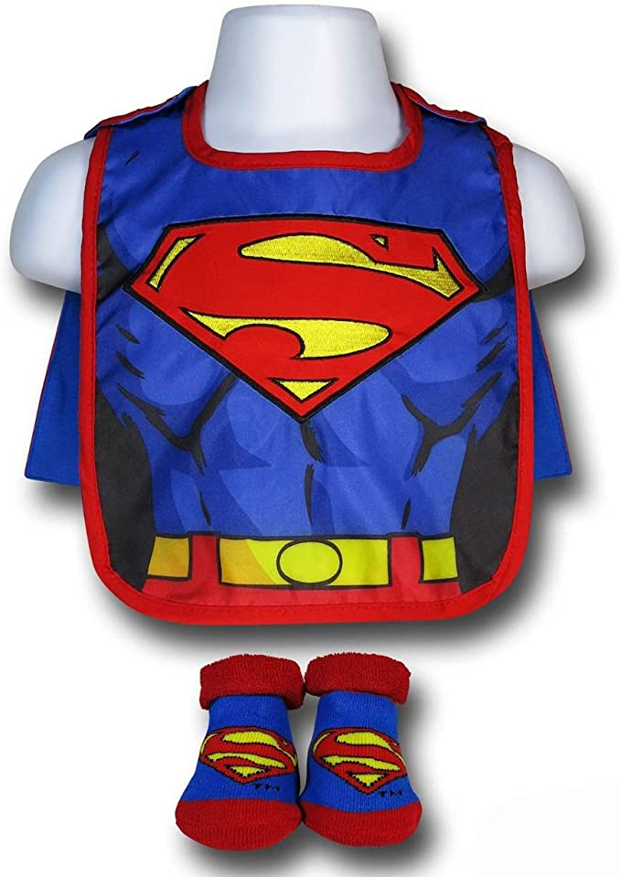Baby-Boys Infant Superman Caped Bib and Bootie Set
