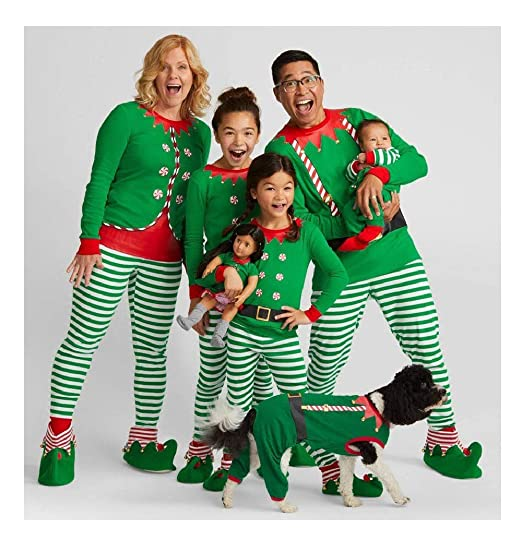Kehen Family Matching Christmas Pajamas Set for Baby Kids Mom and Dad Xmas  Santa Print Sleepwear 9e4be358d
