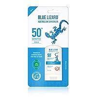 BLUE LIZARD Sensitive Mineral Sunscreen Stick - No Chemical Actives - SPF 50+, 0.5...