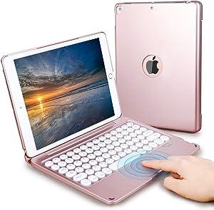 Touchpad iPad Keyboard Case 10.2/10.5 inch for iPad 8th 7th Generation, iPad Air 3rd Gen, iPad Pro 10.5