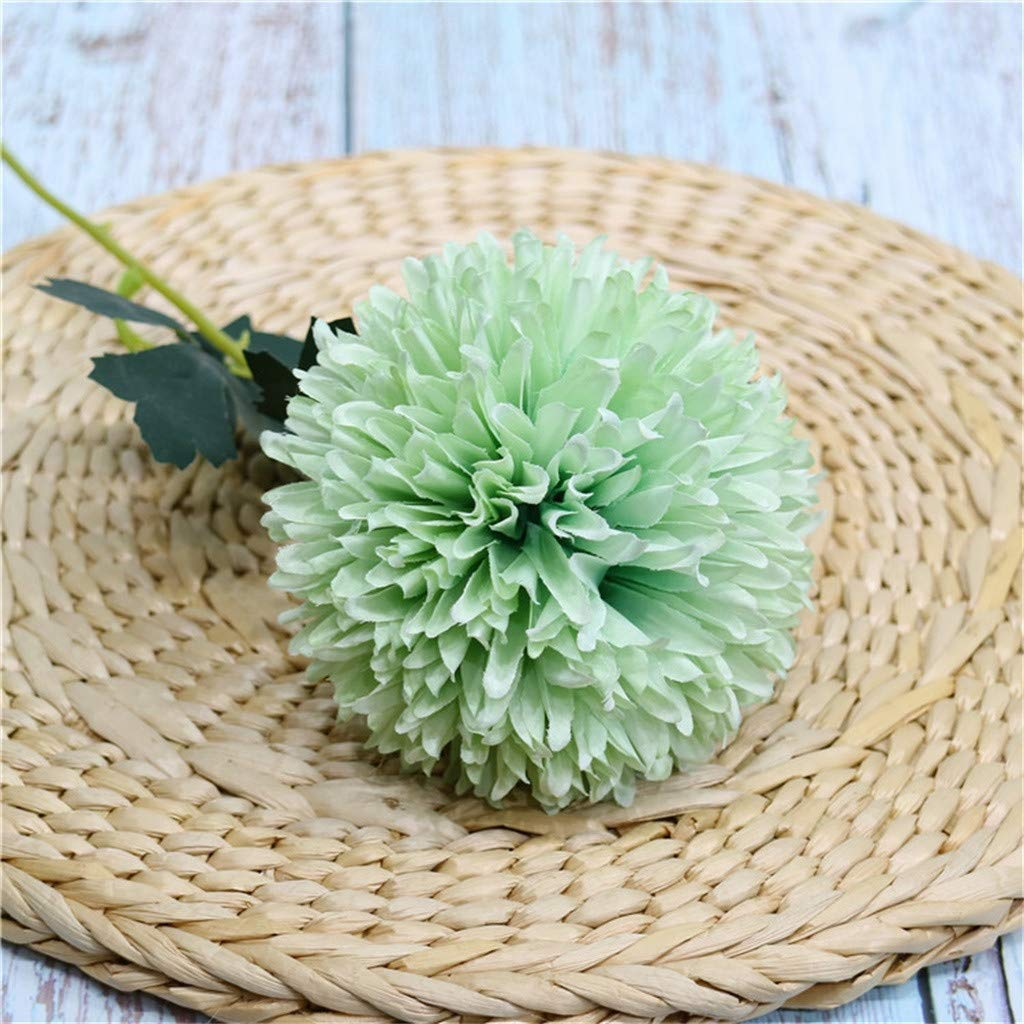 Artificial Flowers Fake Dandelion Plastic Green Plant Home Wedding Decor 1//5PCS