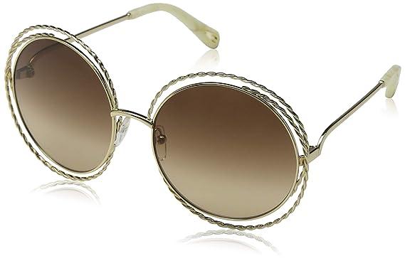 eacf5e7159 Chloe Women s Carlina Torsade - CE114STL Gold Gradient Brown Lens One Size