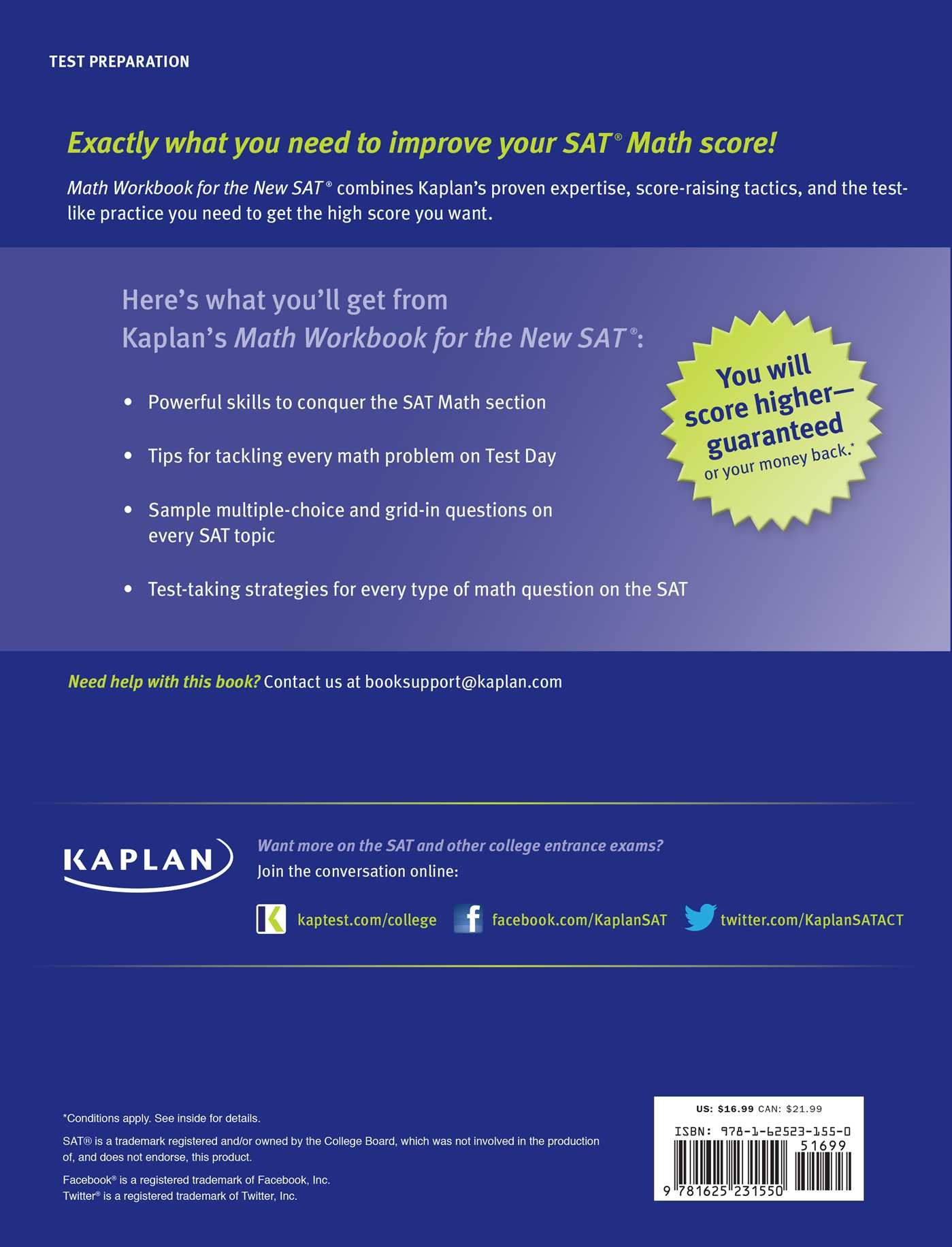 kaplan math workbook for the new sat kaplan test prep kaplan kaplan math workbook for the new sat kaplan test prep kaplan test prep 9781625231550 com books