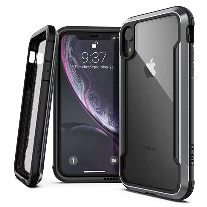 size 40 37894 0965f X-Doria Defense Shield Series, iPhone XR Case - Military Grade Drop Tested,  Anodized Aluminum, TPU, and Polycarbonate Protective Case for Apple iPhone  ...