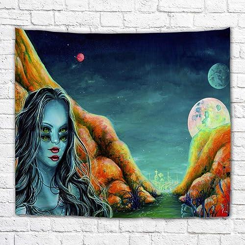 Imagination of Robert Walker Alien Electra Large Art Tapestry