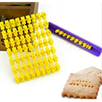 Katoot@ English Letter and Number Biscuit Cake Cutter Alphabet Letter Molds Fondant Cookie Mould Stamp Baking Tools- Yellow