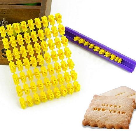 katoot @ Inglés letra y número para galletas cortador de pastel con letras del alfabeto moldes