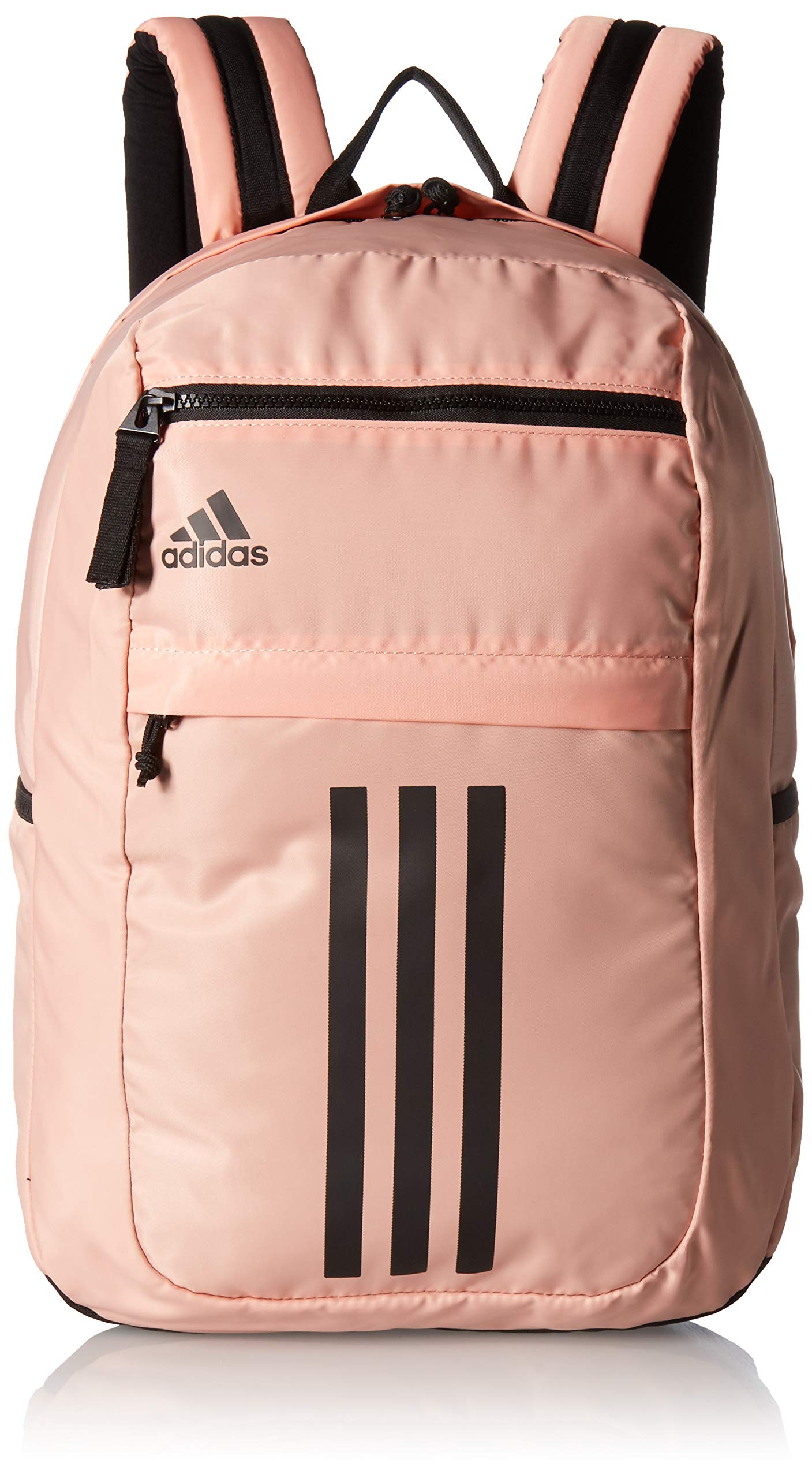 adidas Unisex League 3 Stripe Backpack, Glow Pink/Black, ONE SIZE by adidas
