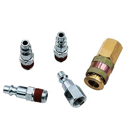 FIXSMITH Air Coupler Plug Kit - 5 Pcs Air Hose Quick Connect,1/4