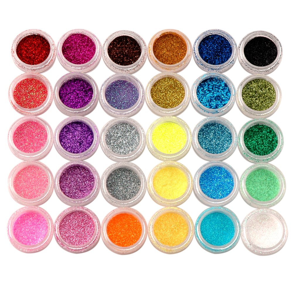 coscelia 8 pc multicolore strass glitter paillette rond pour ongle nail art manucure. Black Bedroom Furniture Sets. Home Design Ideas