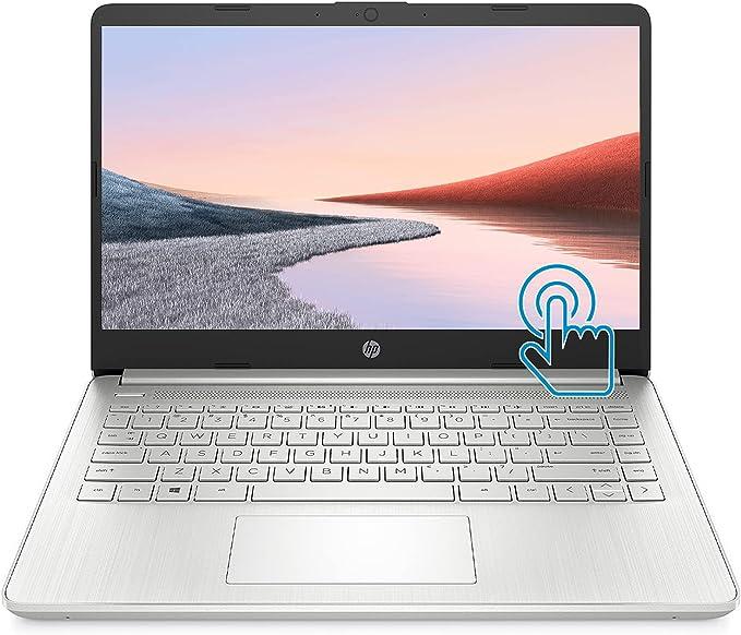 "HP Premium Laptop (2021 Latest Model), 14"" HD Touchscreen, AMD Athlon Processor, 8GB RAM, 128GB SSD, Webcam, HDMI, Bluetooth, Wi-fi, Long Battery Life, Online Conferencing, Natural Silver, Win 10 | Amazon"