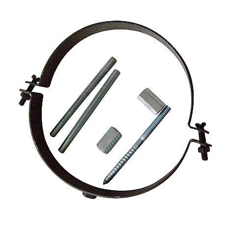 Kamino–Flam – Abrazadera para tubos de chimenea, estufa, horno, Abrazadera con