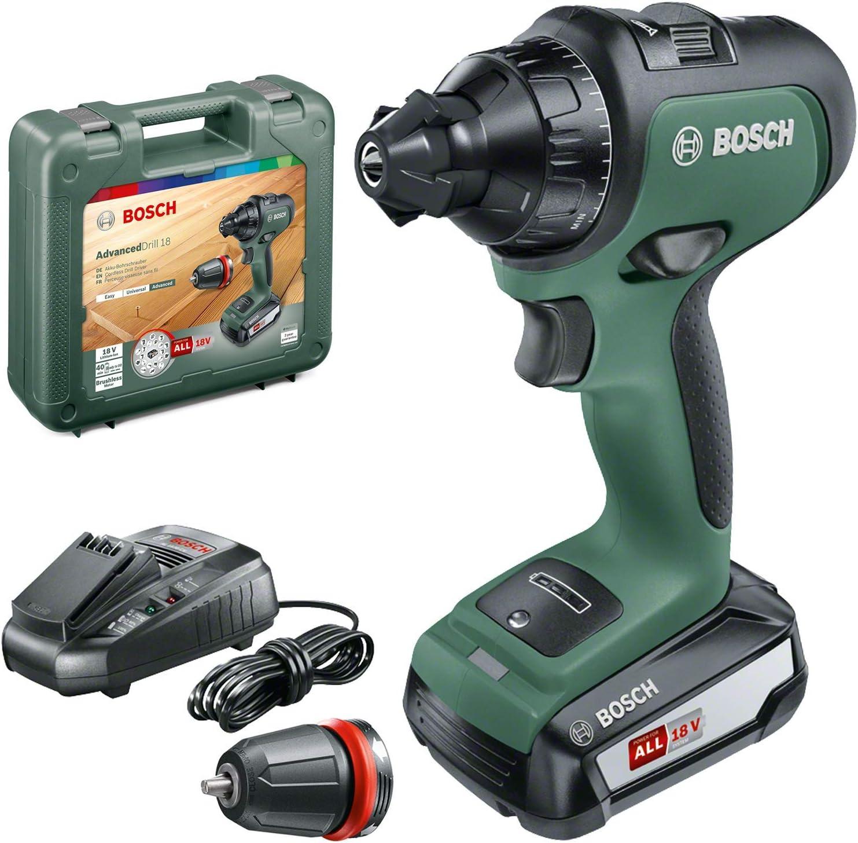 Bosch 06039B5000 Perceuse-Visseuse Sans Fil AdvancedDrill 18 (avec Batterie, Système 18V, dans un Coffret)