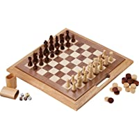 Fat Cat Mainstreet Classics 3-in-1 Wood Game Set